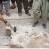 Pics of looted Syrian artefacts being intentionally destroyed?