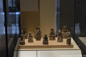 The gang's (partially) here. The NMS' Lewis Chessmen minus one bishop who was in another case.