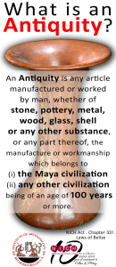 Belize what is an antiquity