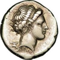 Coin 5 Nomos frappé à Néapolis Parthénopé ou Néapolis Free Use