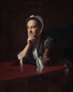 """An emotional colonial object for me: """"Mrs Humphrey Devereux"""" by John Singleton Copley. Painted in Boston in 1770 and now in New Zealand."""