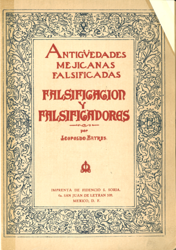 Antiguidades Mejicanas Falsificadas Cover