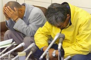 Shinichi Fujimura admitting to planting artefacts at his site. Profimedia/AFP.