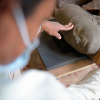 Statue head returned from France to Cambodia