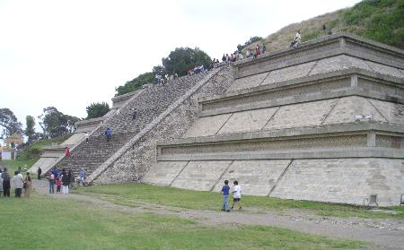 Reconstructed side of the Great Pyramid at Cholula