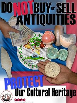 Belize anti looting poster detail