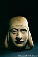 Moche portrait vessel one eye