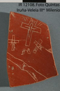 The famous crucifixion sherd. Note the RIP.