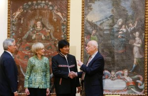 Bolivian president Evo Morales welcomes the return of colonial period paintings stolen from the church at San Martín and found in a US collection.