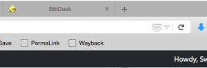 The bookmarklet sits on your toolbar waiting to save sites to archive.org