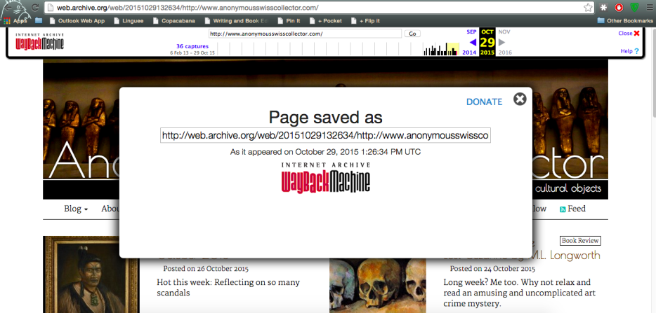Hooray! I just saved this site to the Wayback Machine! Easy!